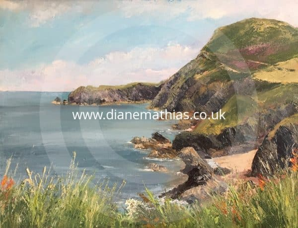 Cliff top view, Llangrannog