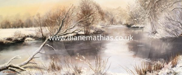 Llyn Badell in Winter