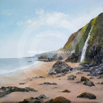 Tresaith Waterfall
