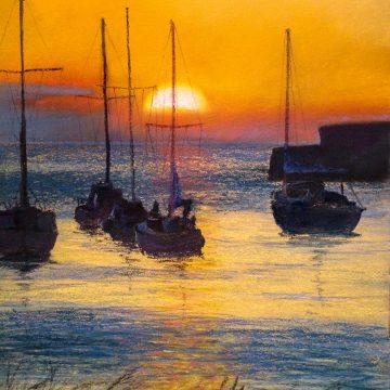 Aberaeron Harbour Sunset