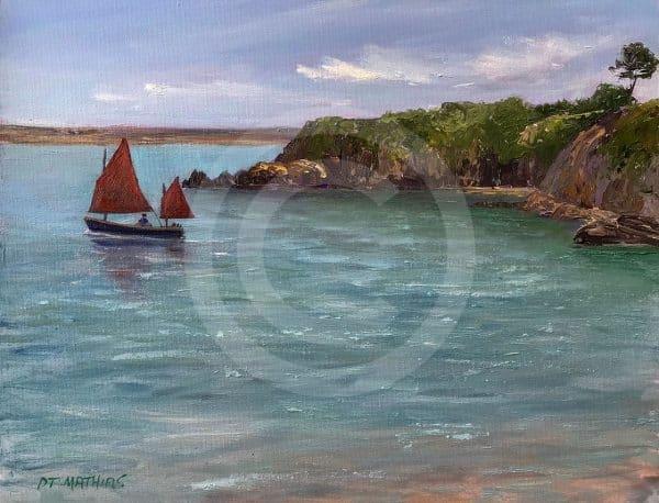 Sailing at Cwm yr Eglwys
